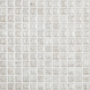 "EDNA TRAVERTINO BONE MT Edna Travertino Bone MT 4102B, 1"" x 1"" - Glass Tile"