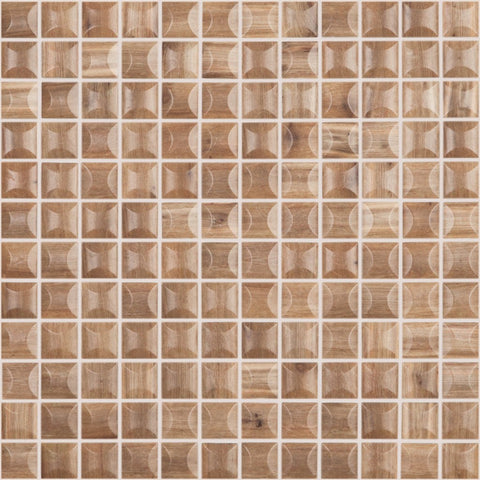 "EDNA WOOD CEREZO MT Edna Wood Cerezo MT 4201B, 1"" x 1"" - Glass Tile"