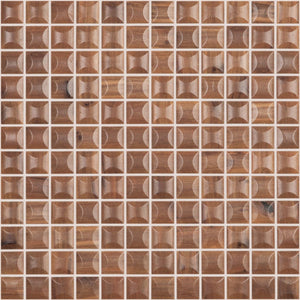 "EDNA WOOD NOGAL MT Edna Wood Nogal MT 4200B, 1"" x 1"" - Glass Tile"