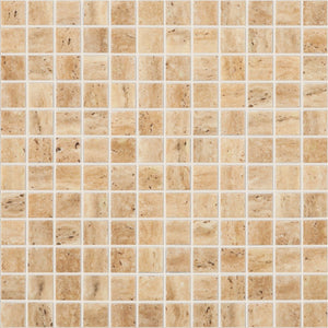 "TRAVERTINO BEIGE MT Travertino Beige MT 4101, 1"" x 1"" - Glass Tile"