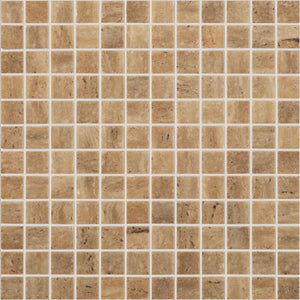 "TRAVERTINO NOCE MT Travertino Noce MT 4100, 1"" x 1"" - Glass Tile"