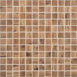 "WOOD CEREZO MT Wood Cerezo MT 4201, 1"" x 1"" - Glass Tile"