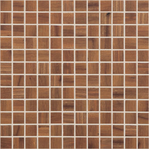 "WOOD NOGAL MT Wood Nogal MT 4200, 1"" x 1"" - Glass Tile"