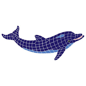 DOLBLUNS Dolphin, Classic No Curve Artistry in Mosaics