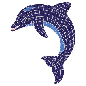 DOLBLUUS Dolphin, Classic Upward Artistry in Mosaics