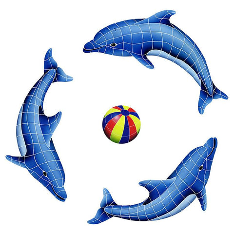 DOLGRPS-MC Dolphin Group, Multi Color Ball Artistry in Mosaics