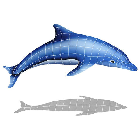 DISBLUA Dolphin In The Sun w/Shadow A Artistry in Mosaics