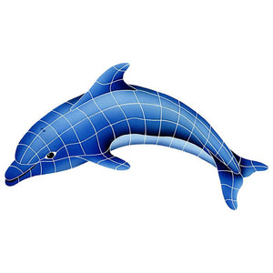 DOLBLULS Dolphin Left Artistry in Mosaics