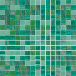 Foliage Mix, 3/4 x 3/4 Mosaic Tile | TREND Glass Mosaic Tile
