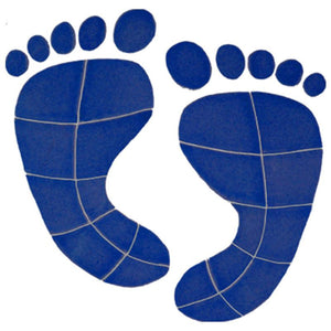 FPRBLUOS Footprints Blue Artistry in Mosaics
