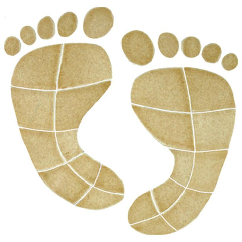 FPRTANOS Footprints Tan Artistry in Mosaics