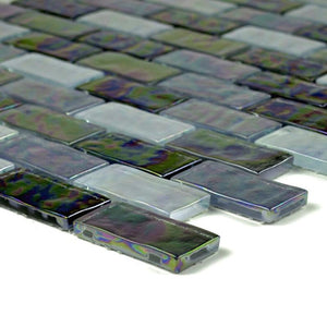 "GC62348K4 Black Blend, 1"" x 2"" Artistry in Mosaics"