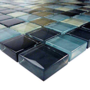 "GC82323K1 Black Charcoal Gray Taupe Blend, 1"" x 1"" Artistry in Mosaics"