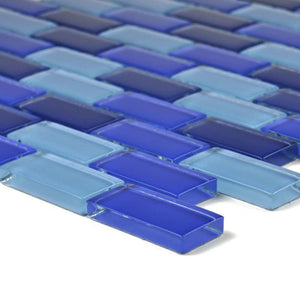 "GC82348B2 Cobalt Blue Blend, 1"" x 2"" Artistry in Mosaics"