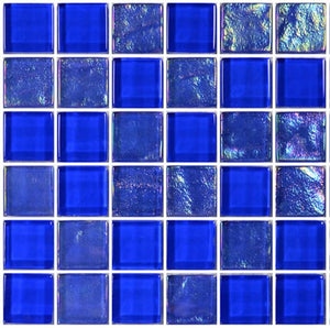 "Royal Blue, 1"" x 1"" - Glass Tile"