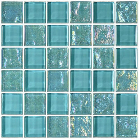 "Turquoise, 1"" x 1"" - Glass Tile"