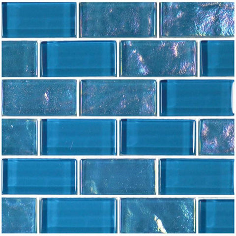 "Azure, 1"" x 2"" - Glass Tile"
