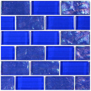 "Royal Blue, 1"" x 2"" - Glass Tile"