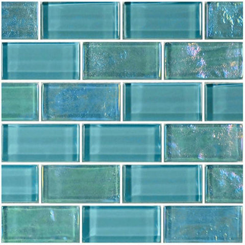 "Turquoise, 1"" x 2"" - Glass Tile"