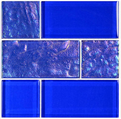 Royal Blue, Mixed - Glass Tile