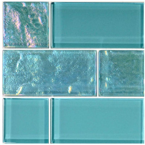 Turquoise, Mixed - Glass Tile