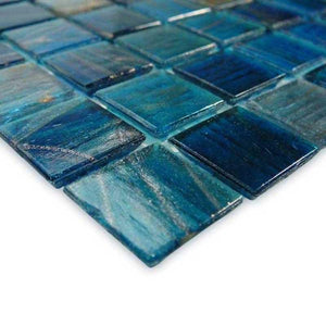 "GV42020B7 Blue Copper Blend, 3/4"" x 3/4"" Artistry in Mosaics"