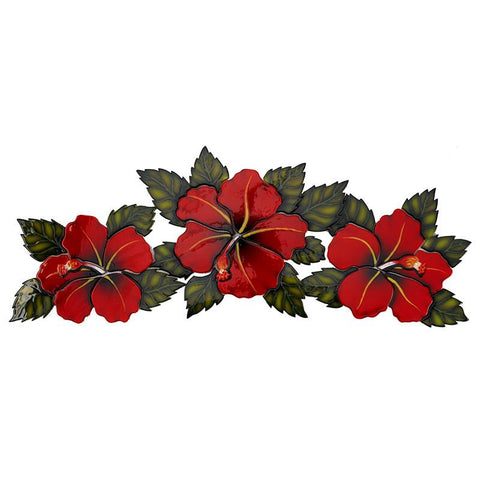 HF74R Hibiscus Flowers Red Custom Mosaics