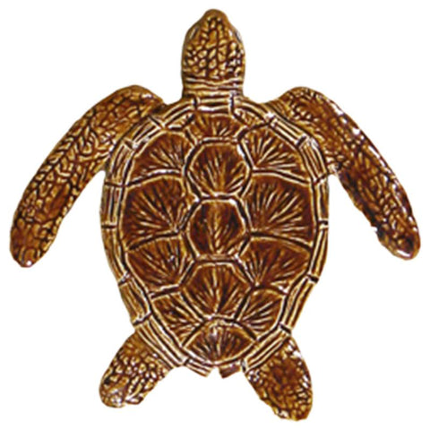 "TLOBROB Loggerhead Turtle - 6"" Brown Artistry in Mosaics"