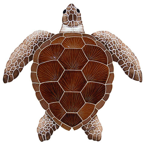 TLOBROS Loggerhead Turtle - Brown Artistry in Mosaics