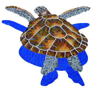G-LTSHS Loggerhead Turtle w/Shadow, Small Artistry in Mosaics