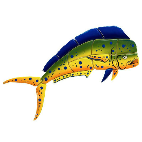 MM13-18 Mahi Mahi-Side View Custom Mosaics