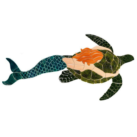 MT48-41 Mermaid & Turtle Custom Mosaics