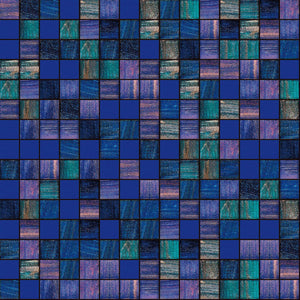 "Fantasy, 3/4"" x 3/4"" - Glass Tile"
