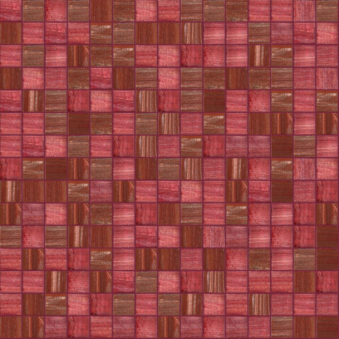 "Rubescent, 3/4"" x 3/4"" - Glass Tile"