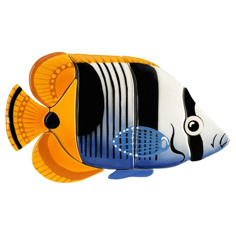 SB57 Saddled Butterflyfish Custom Mosaics