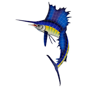 SAIBLULS Sailfish, Left Artistry in Mosaics