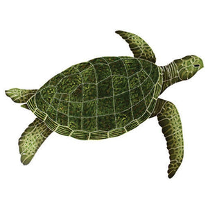 SEAGRERS Sea Turtle - Green Artistry in Mosaics