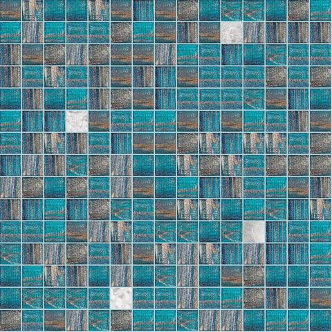 Shaggy Mix, 3/4 x 3/4 Mosaic Tile | TREND Glass Mosaic Tile