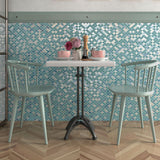 Blue Mix, Fish Scale Mosaic - Glass Tile