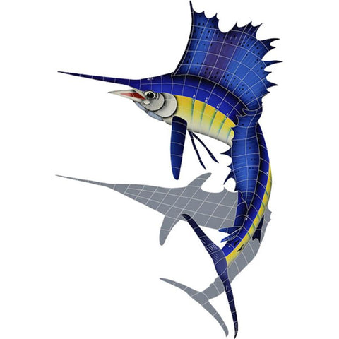 SSHBLULS Sailfish, Left w/Shadow Artistry in Mosaics