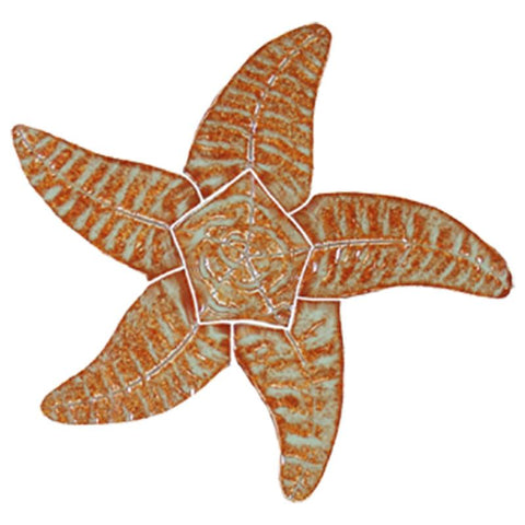 "SFIBROOS Starfish - Brown 9"" Artistry in Mosaics"