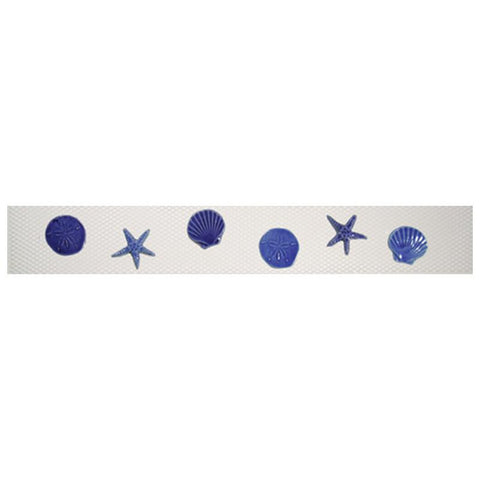 SMSHEBLU Step Markers - Shells Blue Artistry in Mosaics