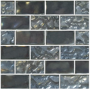 "Silver, 1"" x 2"" - Glass Tile"