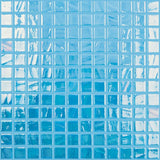 "Brushed Blue Iridescent, 1"" x 1"" - Glass Tile"