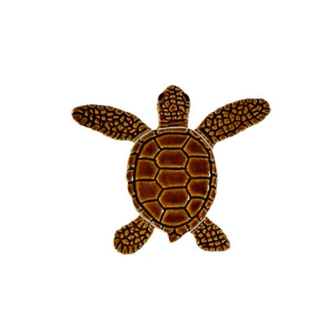 "TLMBROBB Loggerhead Turtle B Mini - 4"" Brown Artistry in Mosaics"