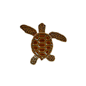 "TLMBROCB Loggerhead Turtle C Mini - 4"" Brown Artistry in Mosaics"