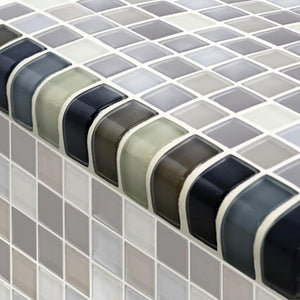 TRIM-GC82348K1 Trim Black Charcoal Gray Taupe Blend Artistry in Mosaics