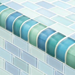 TRIM-GC82348T1 Trim Turquoise Blue Blend Artistry in Mosaics
