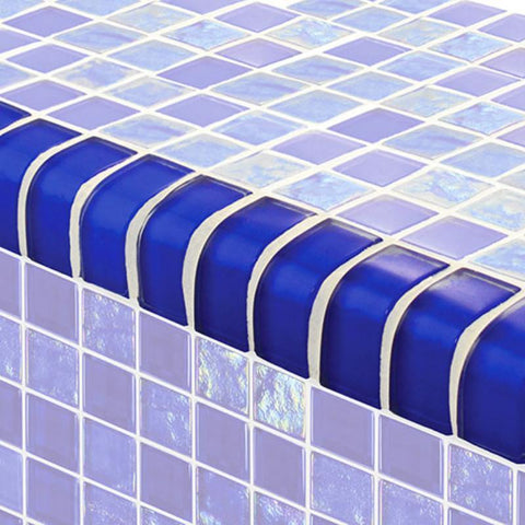 "TRIM-GT82348B9 Trim Royal Blue, 1"" x 2"" Artistry in Mosaics"