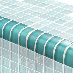 "TRIM-GT82348T4 Trim Turquoise, 1"" x 2"" Artistry in Mosaics"